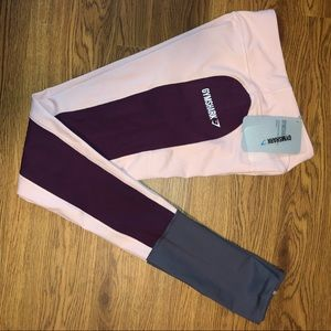 Gymshark Workout leggings and sports bra top.